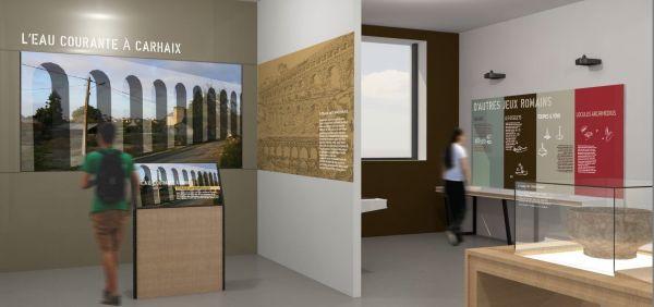 Vue intérieure du futur centre Vorgium