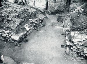 Fouilles Wheeler porte Nord-Est oppidum du Camp d'Artus - Huelgoat