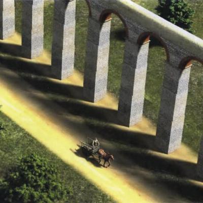 Aqueduc, reconstitution pont Kerampest.G. Le Cloirec
