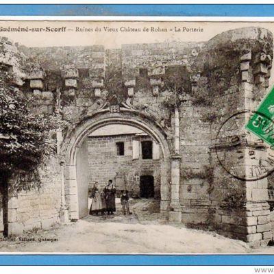 Guémené-sur-Scorff. Entrée du Château des Rohan. Cliché CPA