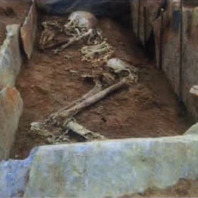 Kergroas, dépouille squelettique, Villard-Le Tiec.