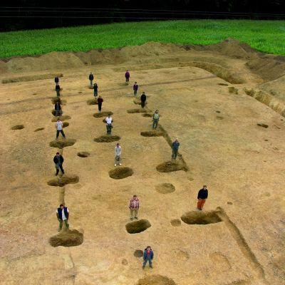 Plan de la grange du Camp de Saint-Symphorien. Cliché Yves Menez
