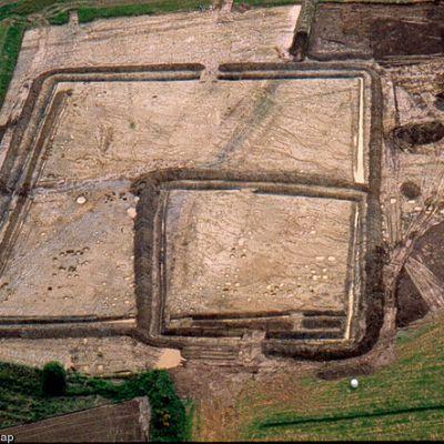 Rosquelfen, Vue aérienne du site, G. Leroux, 2007