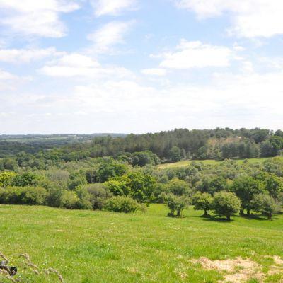 Point de vue depuis l'entrée sud-est de l'enceinte de Castel Vouden Roudouallec © RMCom