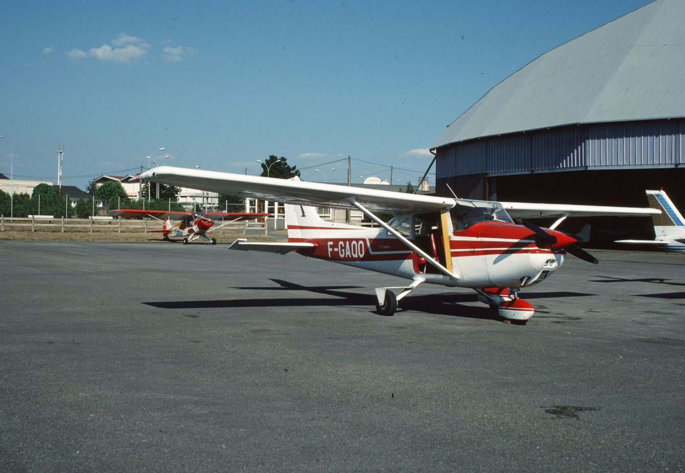 L'avion Québec Oscar utilisé par Maurice Gautier lors de ses prospections aériennes. Cliché M. Gautier